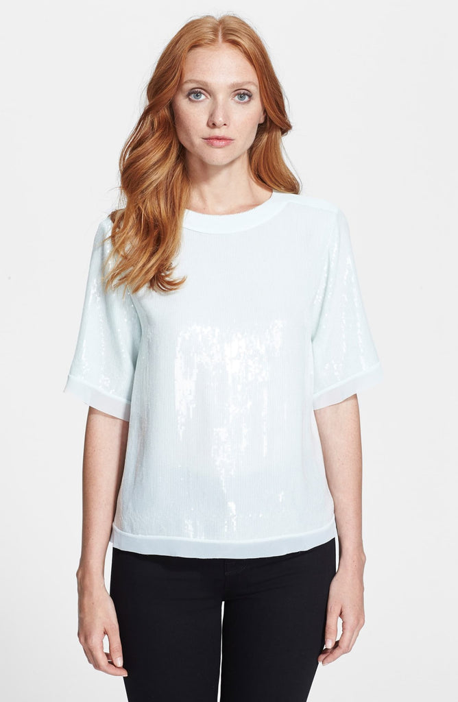 Ted Baker Pansina Sequin Short Sleeve Top