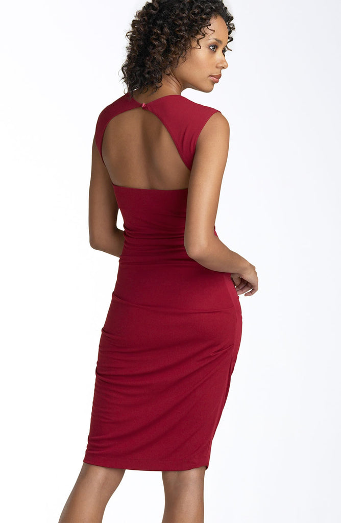 Nicole Miller Open Back Felicity Jersey Sheath Dress