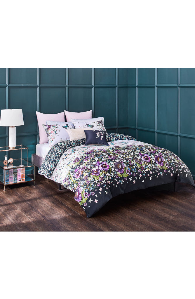 Ted Baker London Entangled Enchantment Duvet Cover & Sham Set, Size Full/Queen