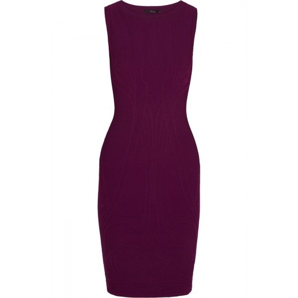 Gucci Purple Sleeveless Stretch Jacquard Dress