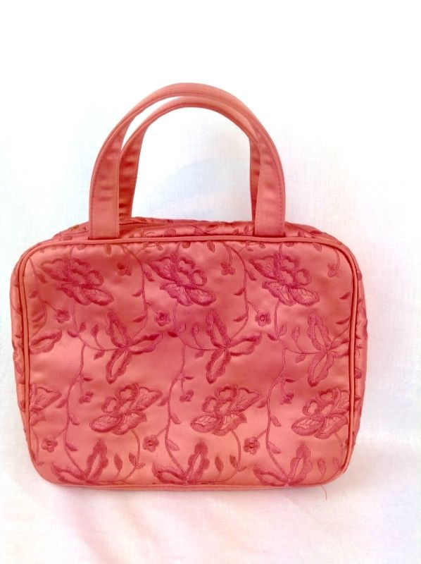 Neiman Marcus Brand Make-up Bag Travel Cosmetic Case Handbag purse tote