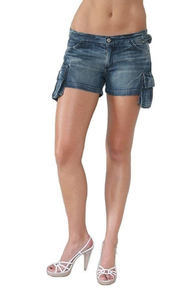 Chip & Pepper Jeans Cargo Woody Hunter Sexy Bum Shorts 26 Small Nwt Pants Denim