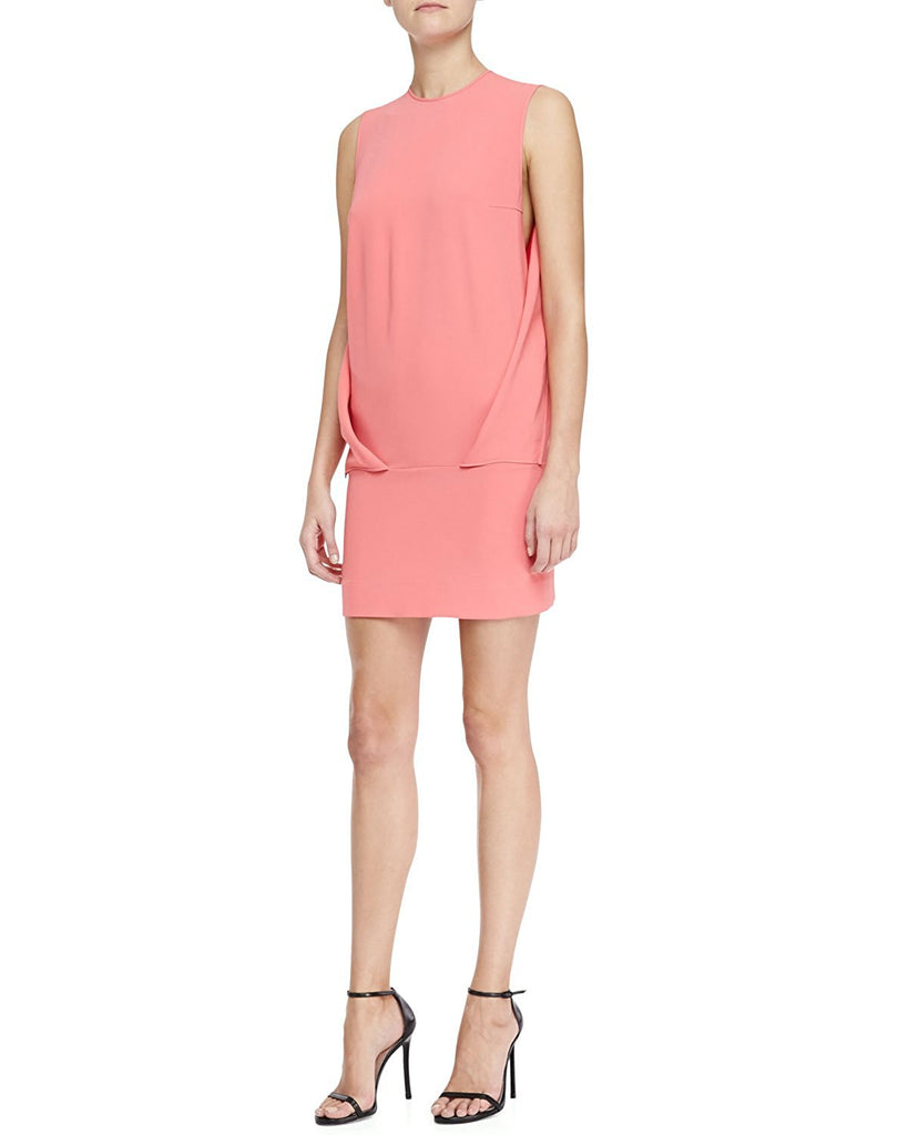 Robert Rodriguez Envelope-Fold Crepe Dress
