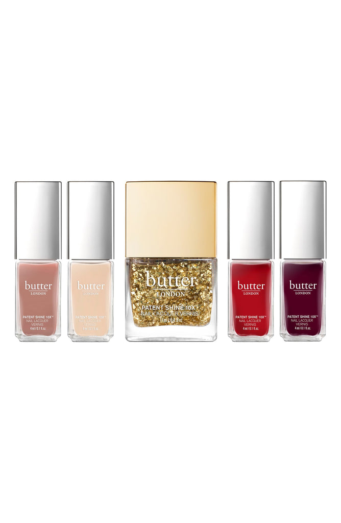 Butter LONDON The Gold Standard 5 Piece Patent Shine 10X Nail Lacquer Set