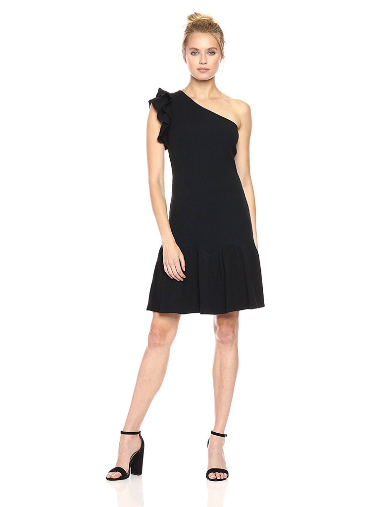 Rebecca Taylor One Shoulder Ribbed Knit Dress