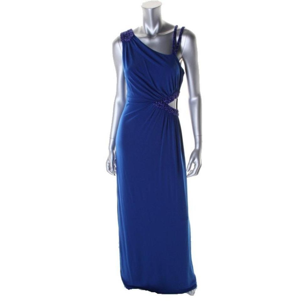 Guess Cutout Side Formal Embellished Gown Dress 6 NWOT New $198 Blue Long Dresses