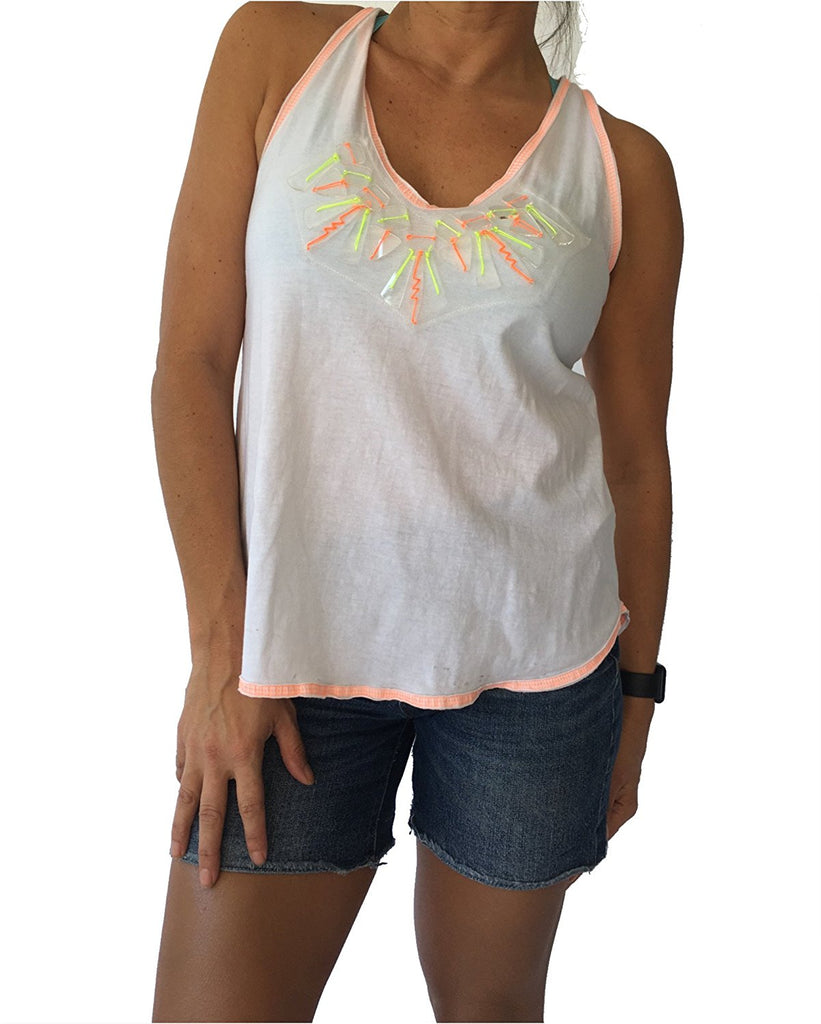 Milly Neon Embellished Tank Top