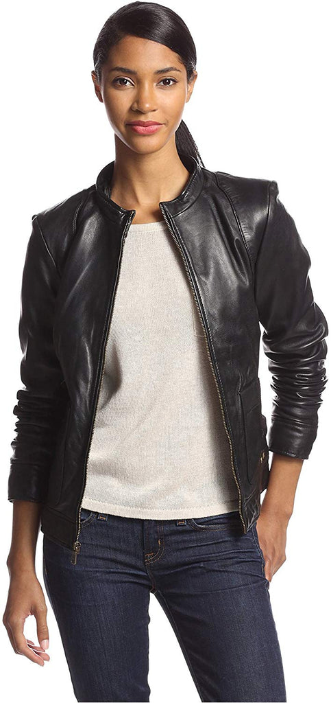 Marc New York Vera Vintage Washed Leather Jacket
