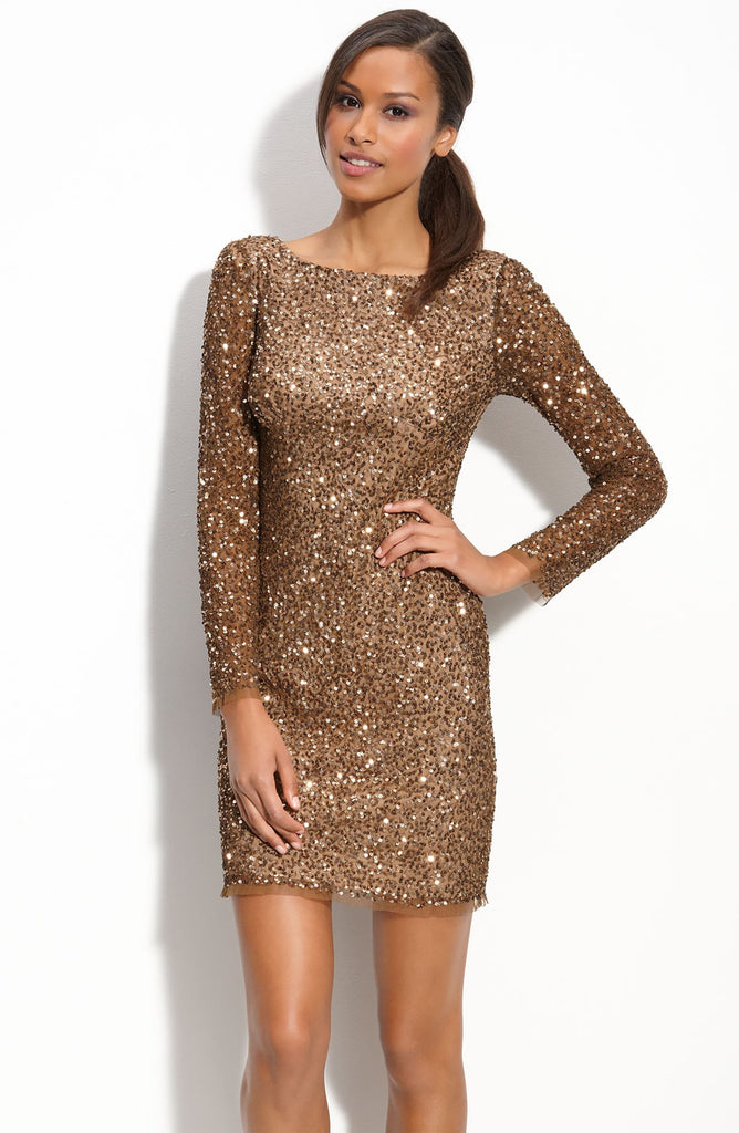 Adrianna Papell Sequin Shift Dress E-Live from Red Carpet