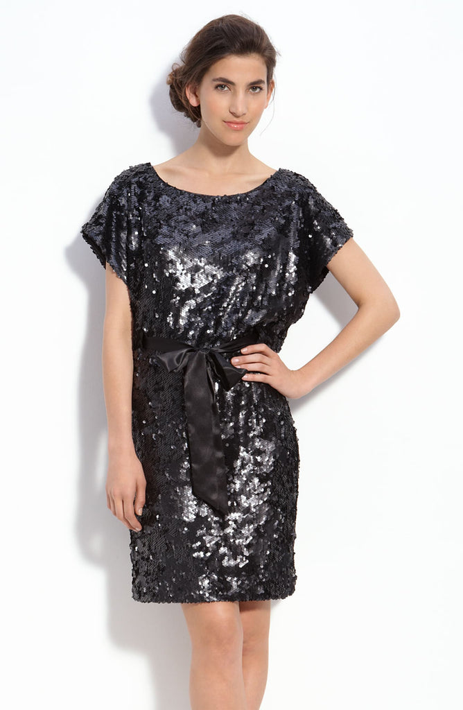 Aidan Mattox Sequin Shift Dress