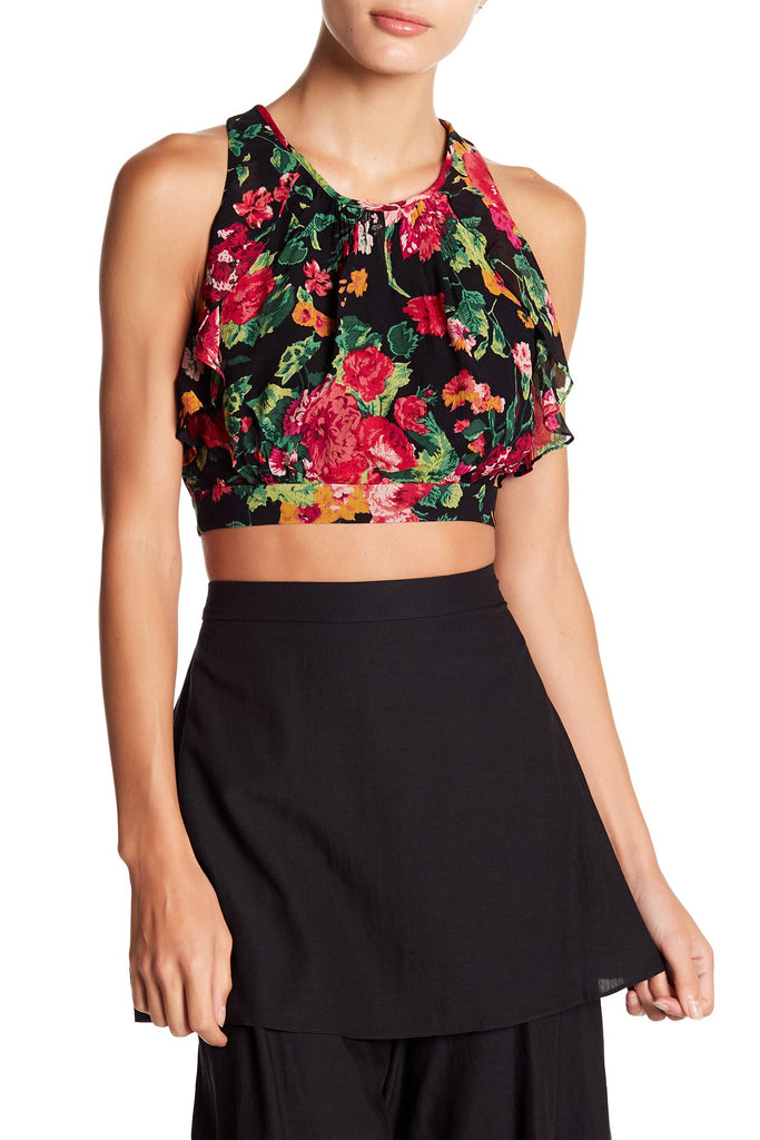 Bcbgmaxazria Tropical Garden Cropped Top