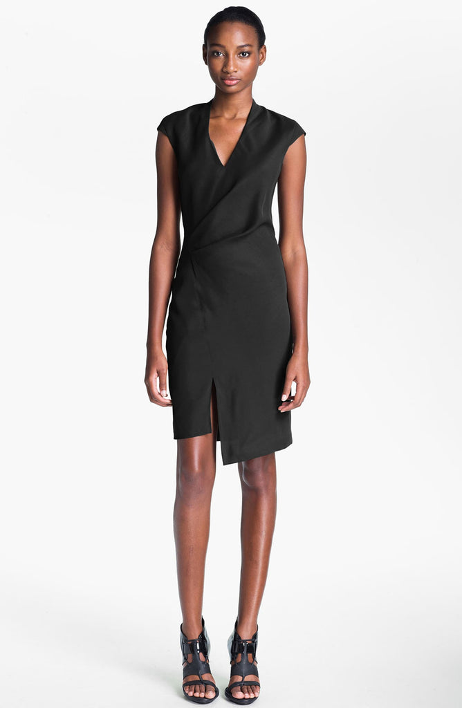 Helmut Lang Suiting Cove Wrap Detail Dress