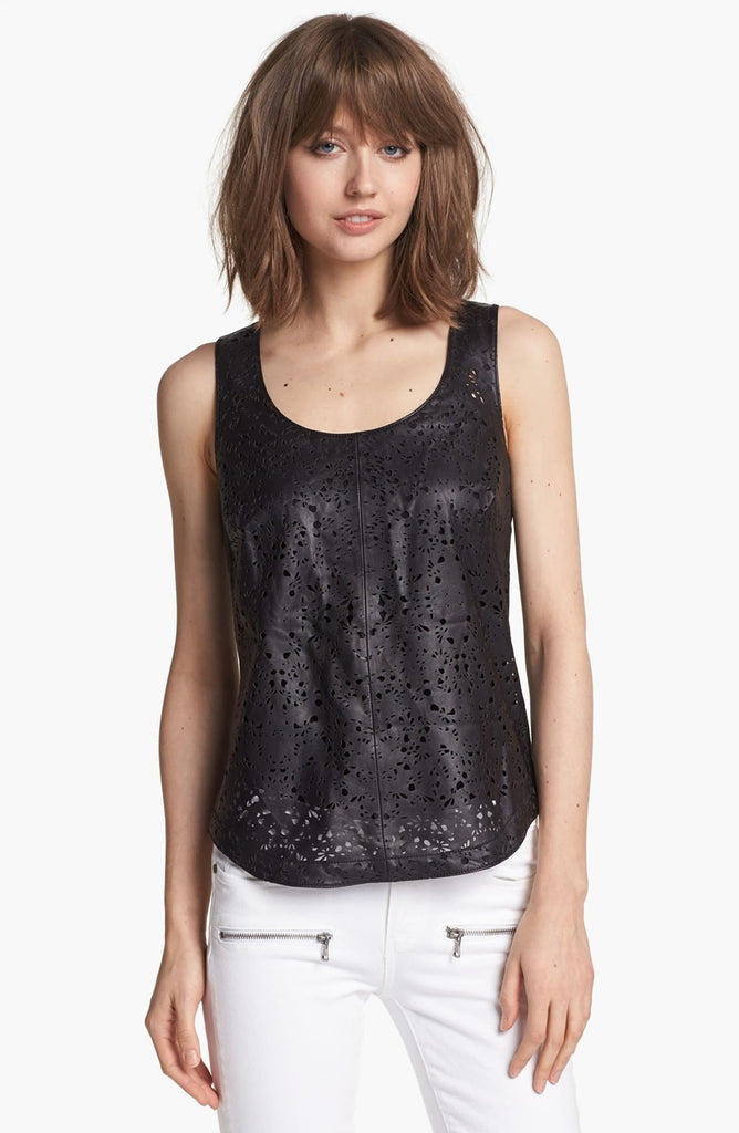 Hinge Perforated Leather Tank