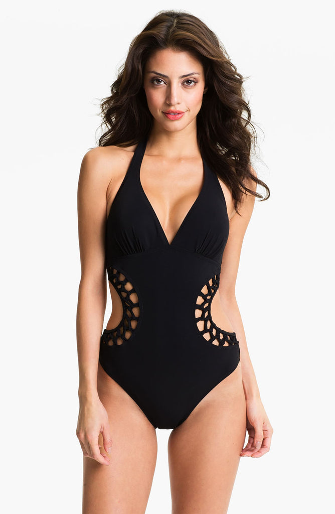 Profile by Gottex Kenya Solid Cutout Monokini One-Piece