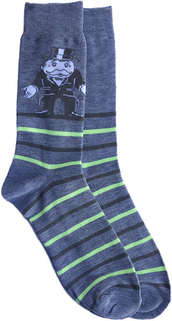 Planet Sox Monopoly Rich Uncle Pennybags Board Game Men's Novelty Crew Socks