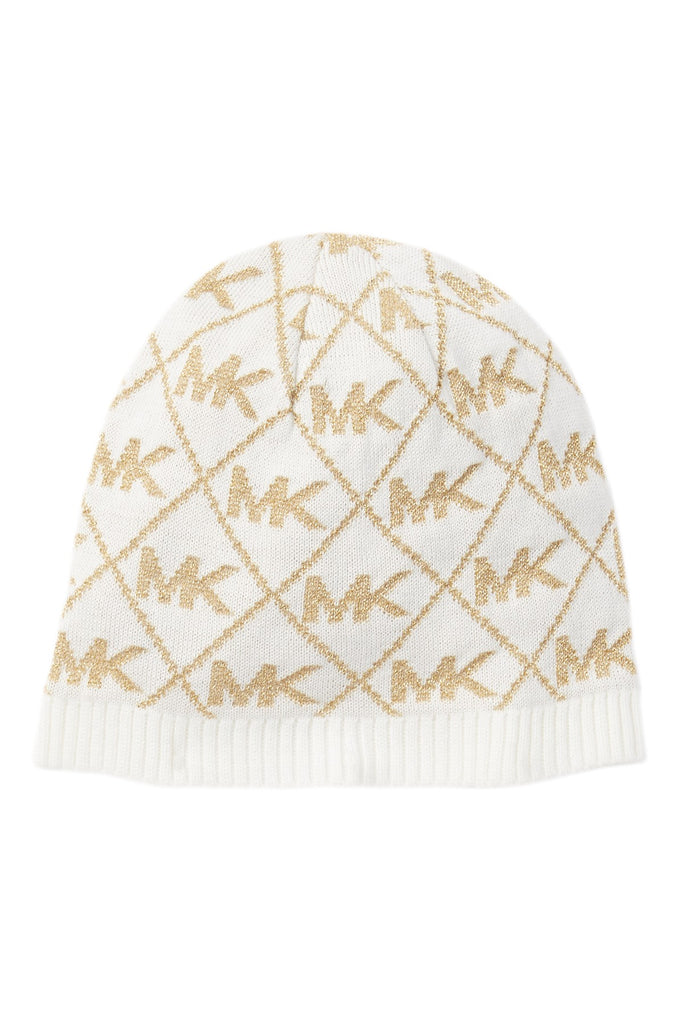 Michael Kors Diamond Metallic Logo Beanie (Derby)