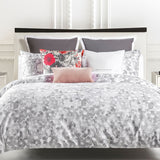 Kate Spade Inky Floral Grey White Full/Queen Comforter Sham Set