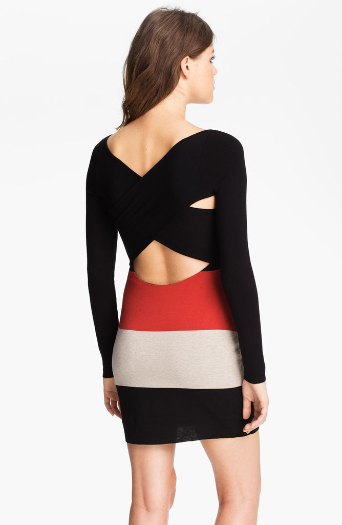 Bailey 44 Colorblock Cross Back Jersey Dress