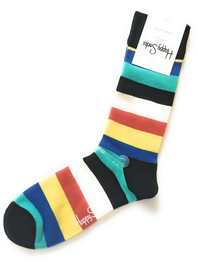 Happy Socks Combed Cotton Dress Crew Socks