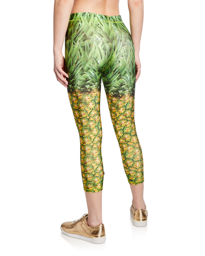 Terez Natural Pineapple Crop Capri Leggings