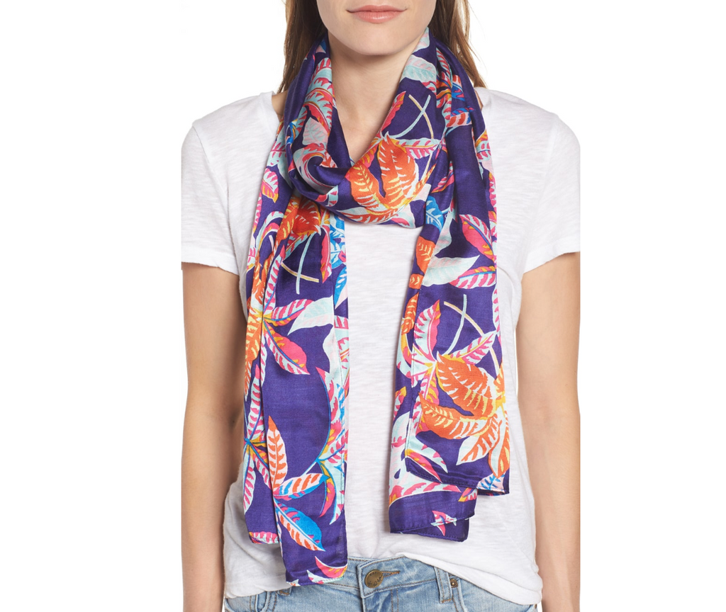 Echo Parisian Palm Printed Oblong Scarf
