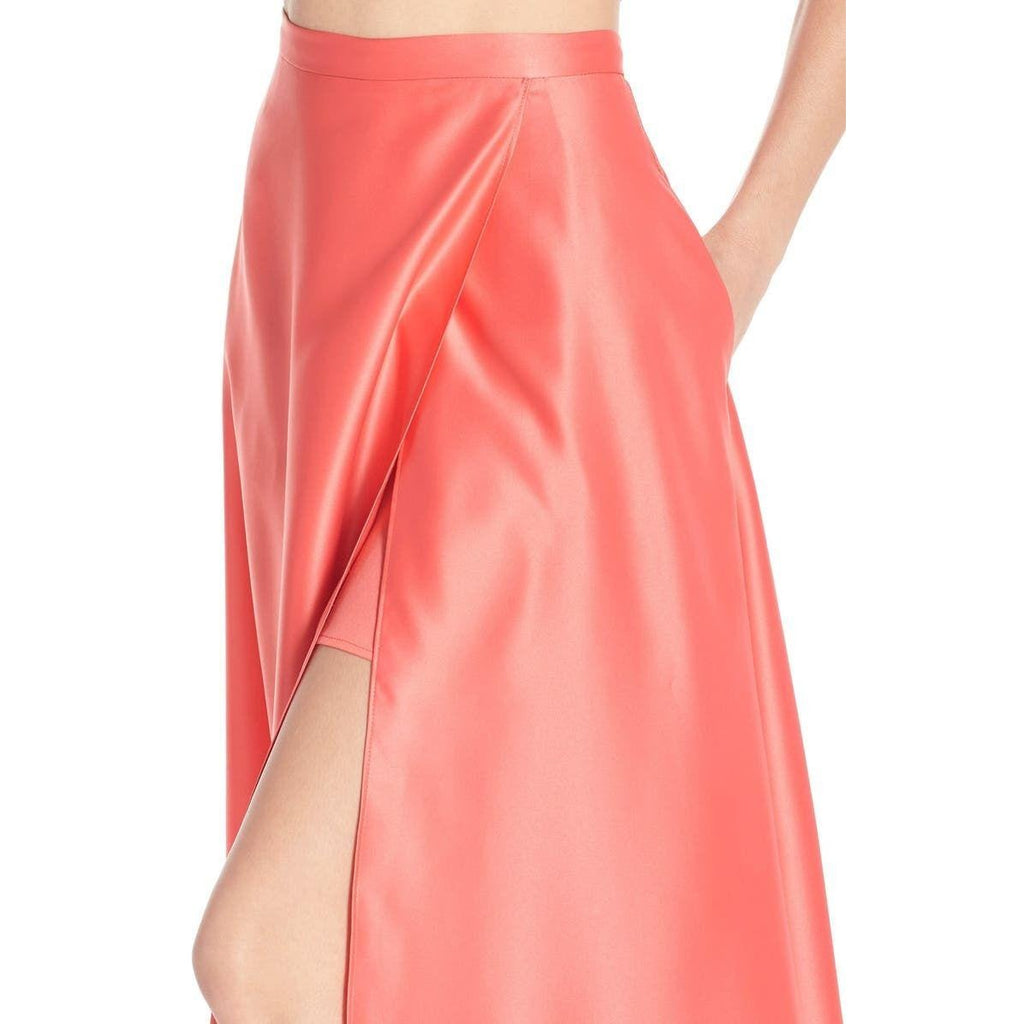 Xscape Embellished Satin Two-Piece Ballgown 4 Nwot New Maxi Long Dress Dresses