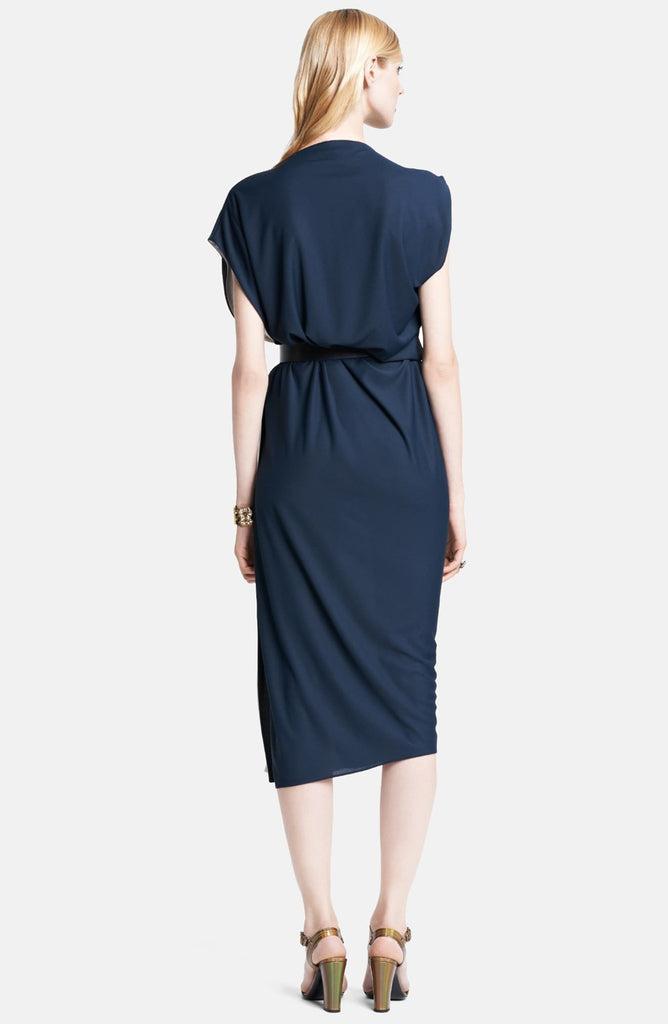 Lanvin Contrast Side Cowl Neck Dress