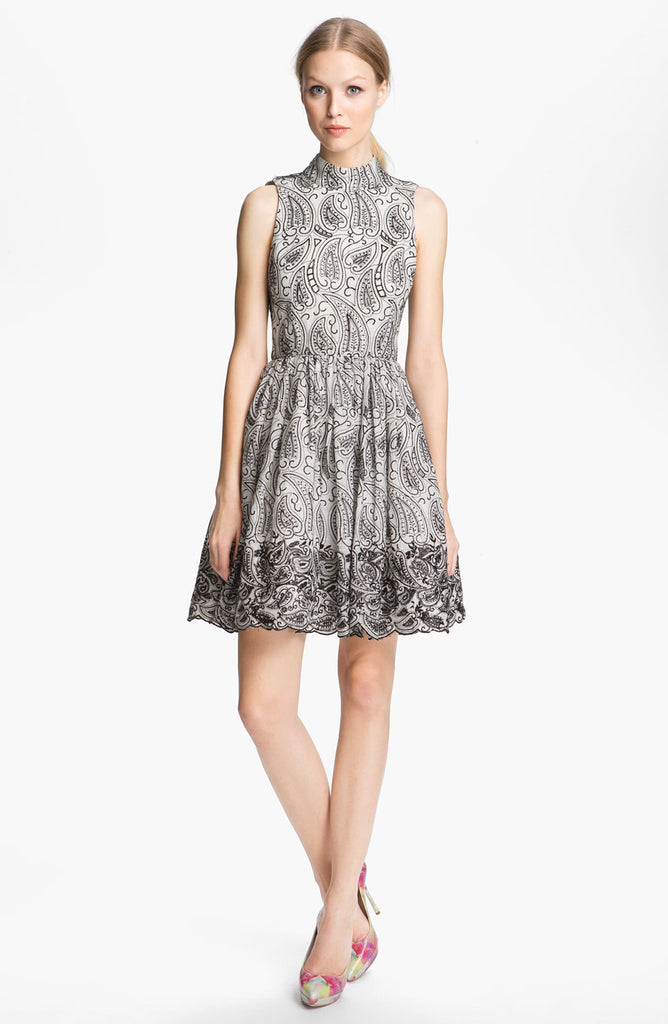 Alice + Olivia Paisley Print Flared Dress