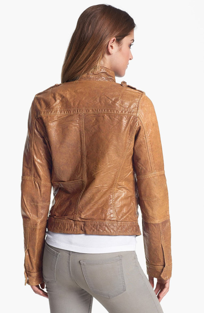 Q40 Crinkled Leather Jacket