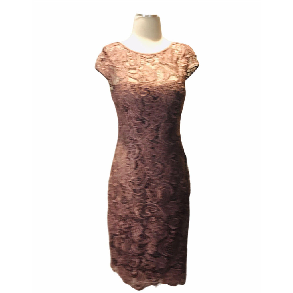 Adrianna Papell Cap Sleeve Lace Sheath Dress