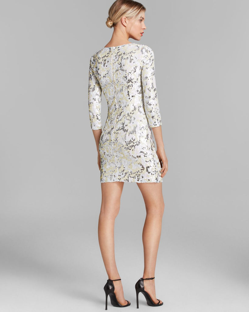 French Connection Animal Wave Sequin Shift Dress