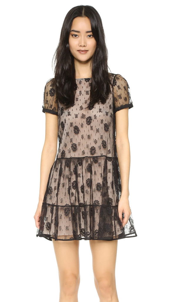 RED Valentino Lace Bow Back Babydoll Dress