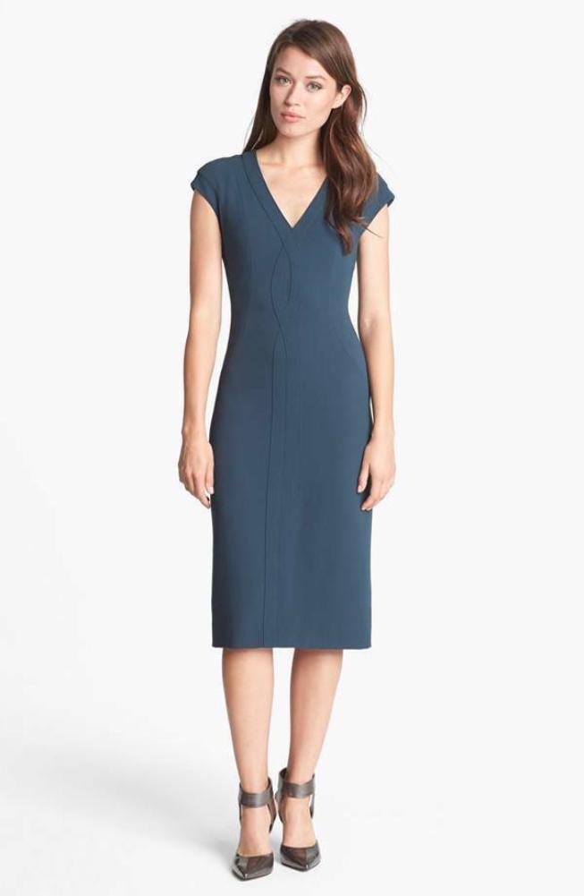Rachel Roy Collection V-Neck Crepe Sheath Dress