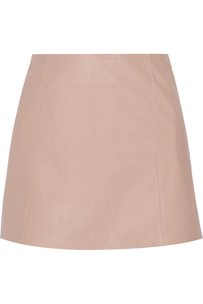 T By Alexander Wang Pink Leather Mini Skirt