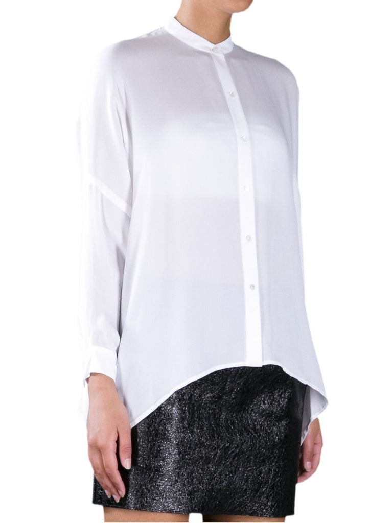 Vince Oversized Button Down Silk Blouse