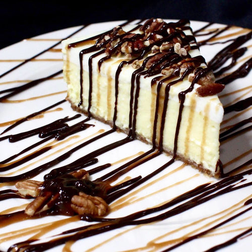 Chocolate Caramel Turtle Cheesecake