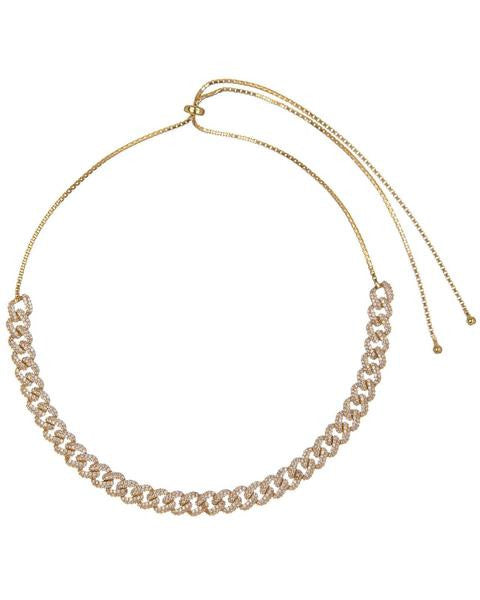 Chain link choker rose gold