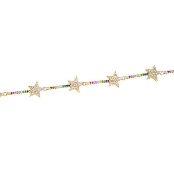 Multi star tennis bracelet