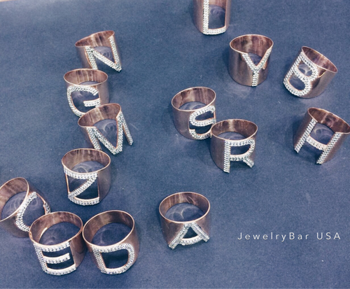 personalized letter rings