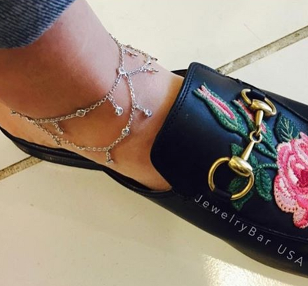 Dainty luxe anklet