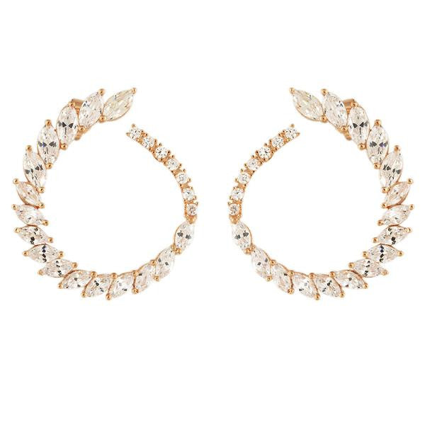 princess circle earring gold