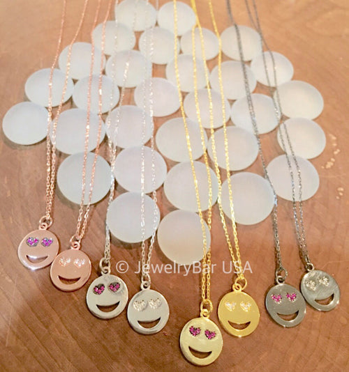 Emoji necklace- love struck emoji - christmas gift