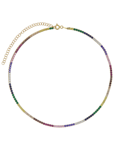 rainbow tennis choker