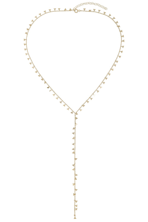 triangle charm lariat