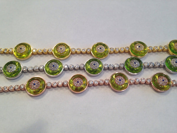 SANTORINI LIME GREEN GLASS EVIL EYE