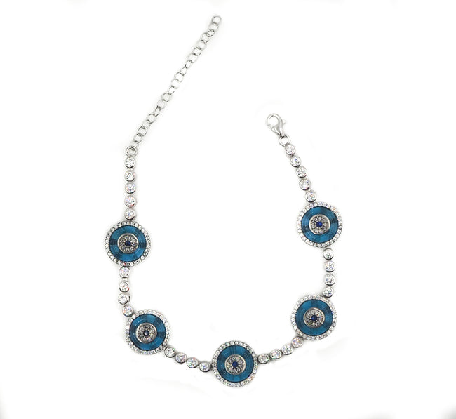Natalia Glass Evil Eye Tennis Bracelet