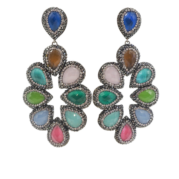 olivia statement Druzy earrings