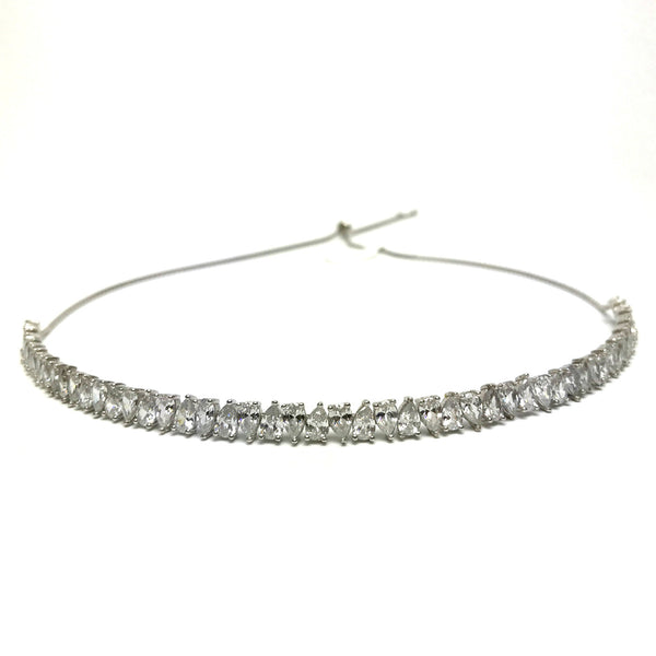 pear shape diamond choker