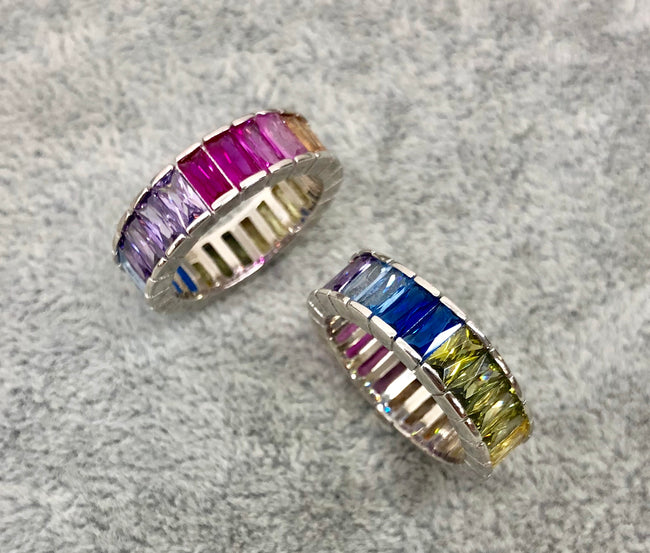 rainbow clutter ring