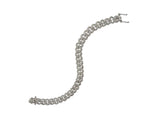 Chain Link Bracelet White Gold
